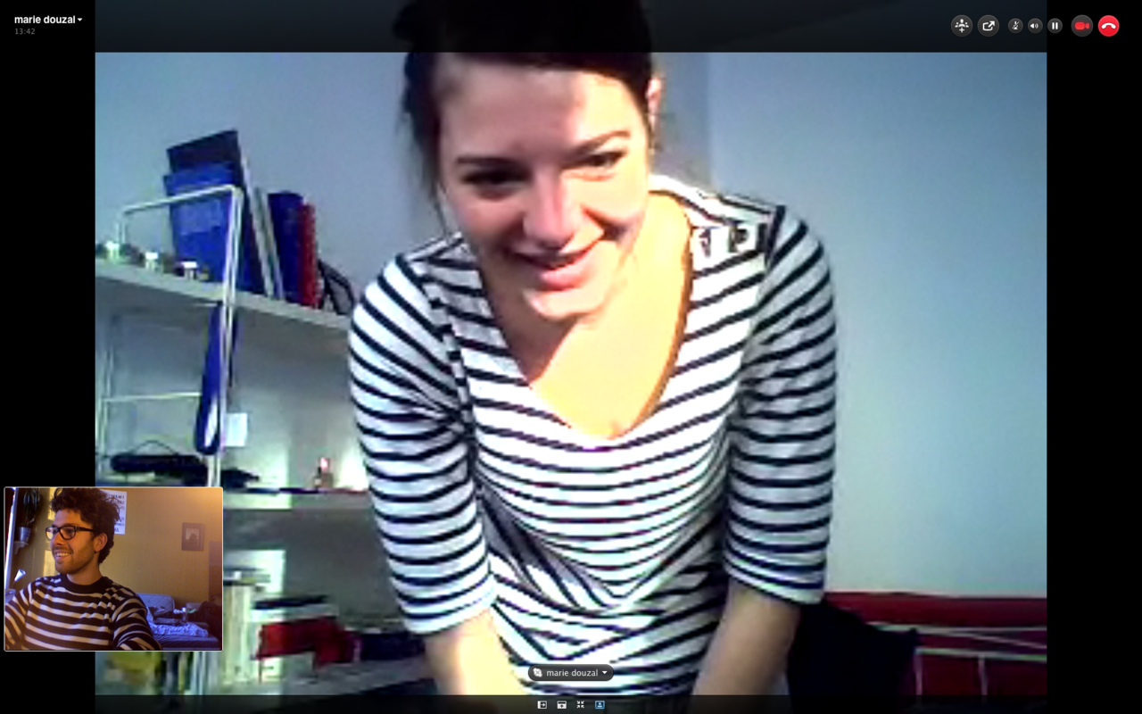 Representing french stripes abroad :)   #skype #marie #stuttgart #germany #oslo #norway