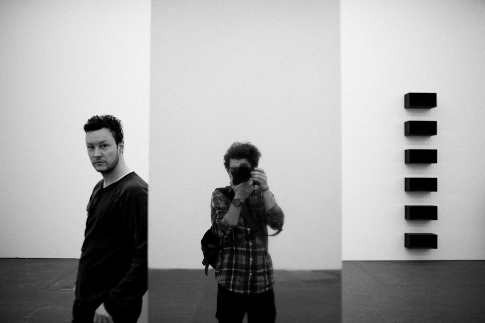 Berlin:day:3 this guy hosted me on my second night in Berlin. I met him on the street and when I asked him if he had a sofa for me, he said yes because I felt sympathy for a fellow backpacker. This is us at a museum for contemporary art. Thanks for showing me around and letting me stay three nights at your place Phillip!