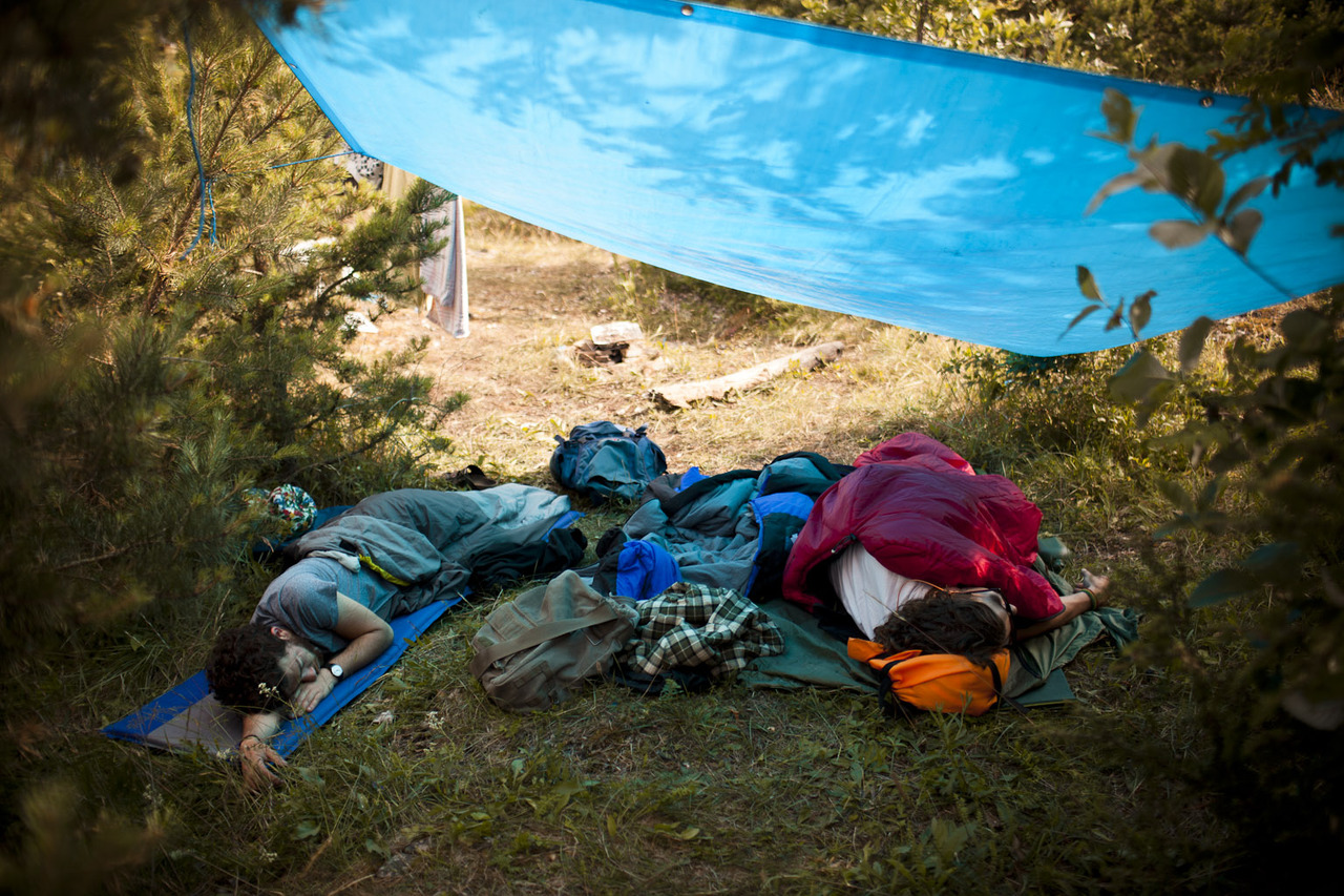 johnnynordskog :     Sebastian and Jonas sleeping.   Langøyene, 2012.