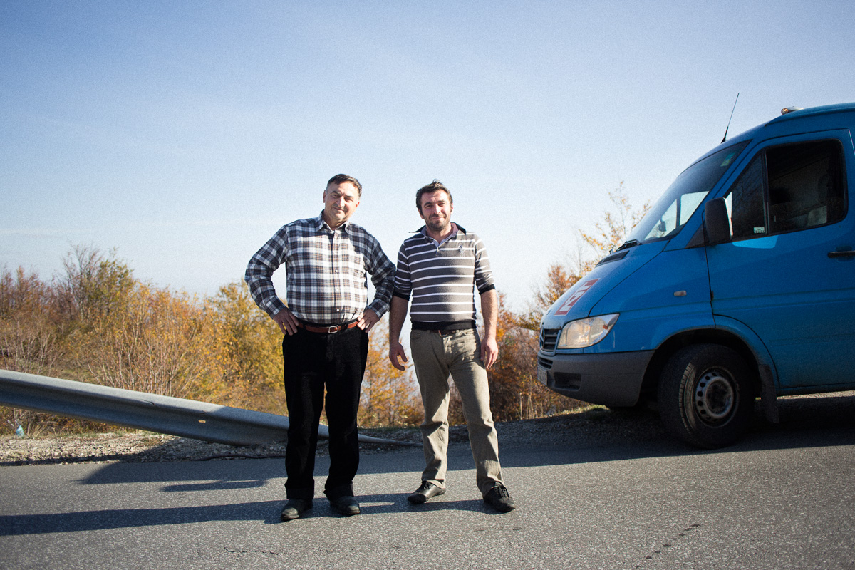 Haris & Zekaj (father & son) // November 13th 2012 // Drove me from Podgorica, Macedonia to Pejë, Kosovo.