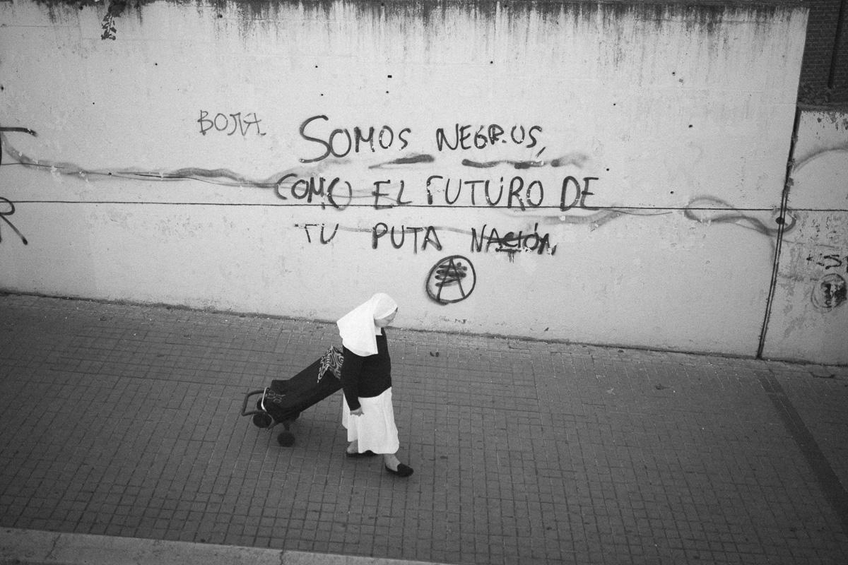 """Spotted in Spain:""""Somos negros, como en el futuro de tu puta nacion"""""""