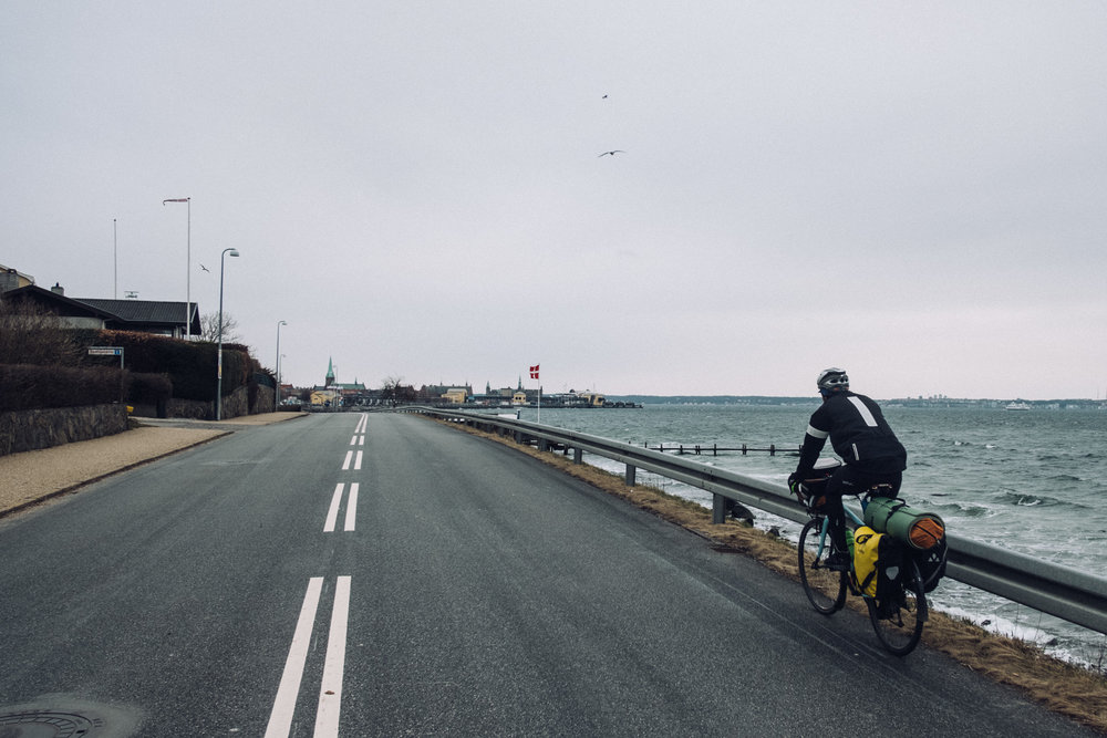The last bit of Denmark before crossing the Kattegatt sea by ferry. Strong winds from north-east.