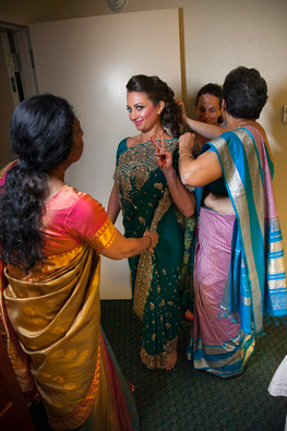Getting wrapped into my saree!