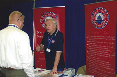 NCFS Vice-President and Director, Jack Leonard, exhibiting at 2013 NFA Expo in Sioux Falls, South Dakota