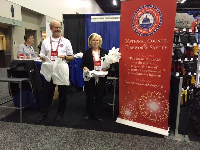 NCFS President Nancy Blogin and NCFS Spokesperson Ralph Apel 2015 Fire Department's International Conference (FDIC), Indianapolis, IN