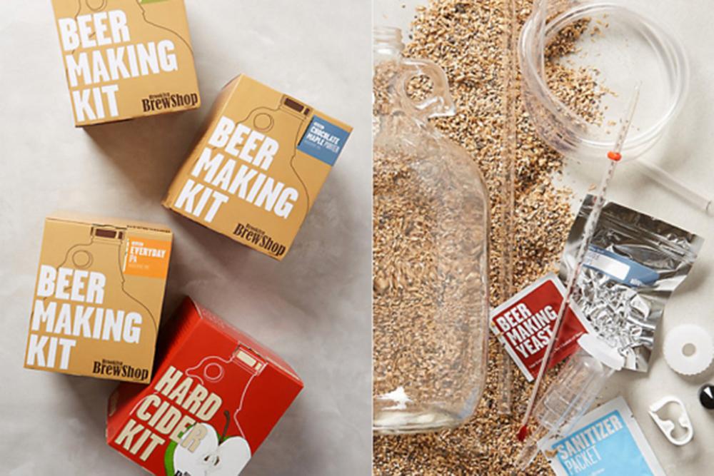Brooklyn Brew ShopBeer-Making Kit, $40,anthropologie.com