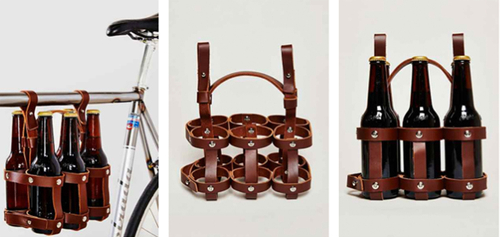 Leather Six Pack Caddy $59.95 www.fyxation.com