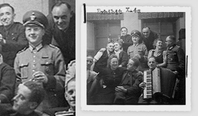 Georg Renno na zabawie pracowników Centrum T-4 w zamku  Hartheim  (źródło: holocaustresearchproject.org)