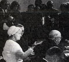 Hermine Braunsteiner ps. Kobyła  podczas procesu (źródło:  simon-wiesenthal-archiv.at )