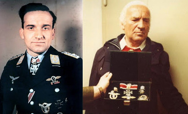 Hans Ulrich Rudel i jego ordery (źródło:  ww2gravestone.com/general/rudel-hans-ulrich )