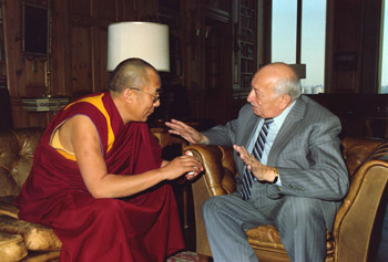 Szymon Wiesenthal i Dalai Lama, 1991 rok