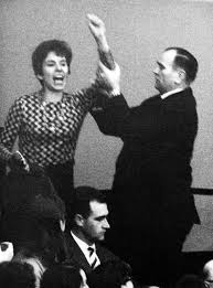 Beate Klarsfeld in the Bundestag, 1968 (source:    www.rp-online.de   )