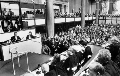 Photo: Klaus Barbie's trial (source:    storify.com   )