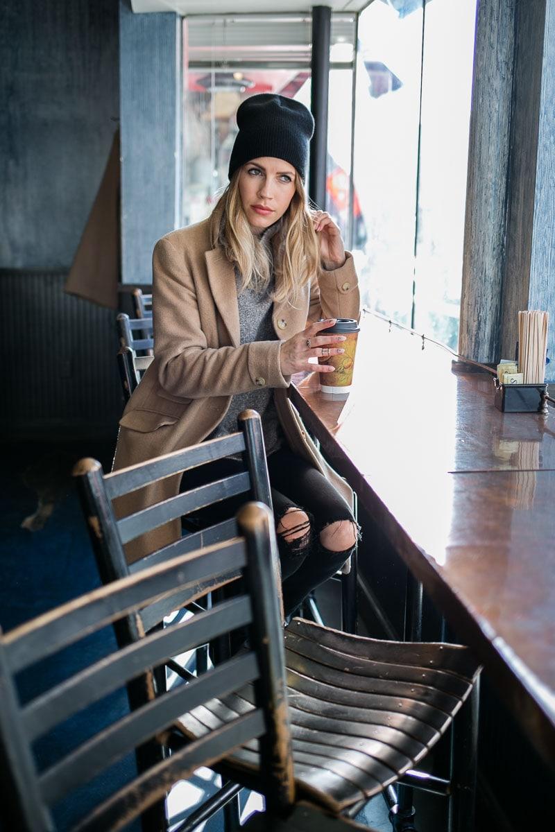 Coffee Shop Beanie Look