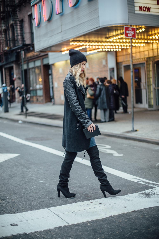 "Boots: Steve Madden |Coat: BB Dakota, Similar | Turtleneck: Zara,Similar | Beanie: Urban Outfitters|Lipstick: ""Jeanne"" by Nars (Audacious)"