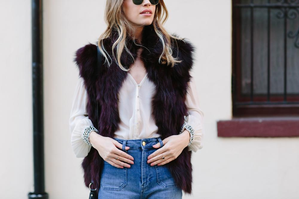 Fur Vest Details