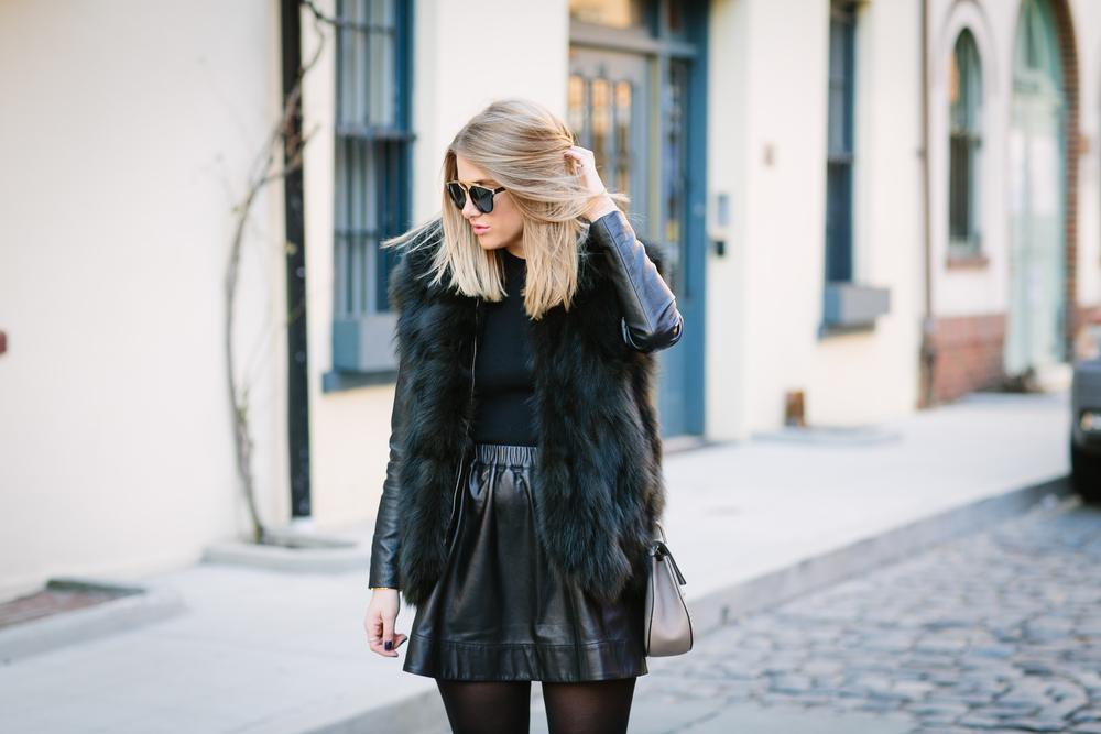 All black fur trend