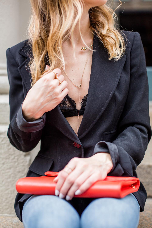 necklace bralette details