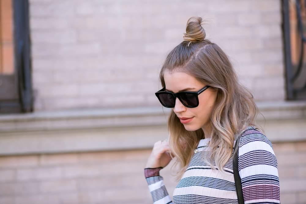 sunglasses topknot