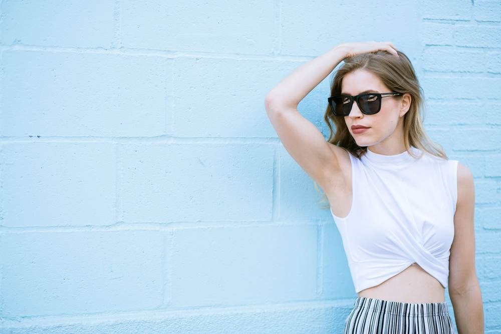 "Pants:Topshop| Top:Topshop| Sneakers: Zara,Similar| Bag: Joy and Peace,Similar | Sunnies:Karen Walker | Lipstick:MAC in ""Double Shot"""