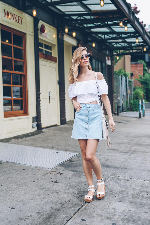 Skirt |Top |Bag |Sandals