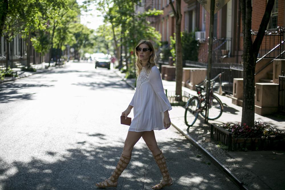 Dress: Esther Boutique | Sandals: Schutz | Sunnies: Urban Outfitters