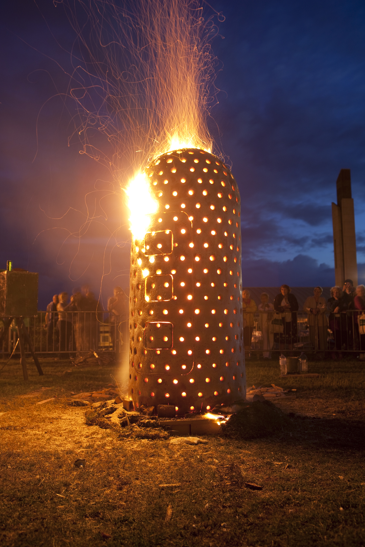 Fire Capsule. Aberystwyth International Ceramics Festival. Aberystwyth Arts Centre, Wales. 2009.