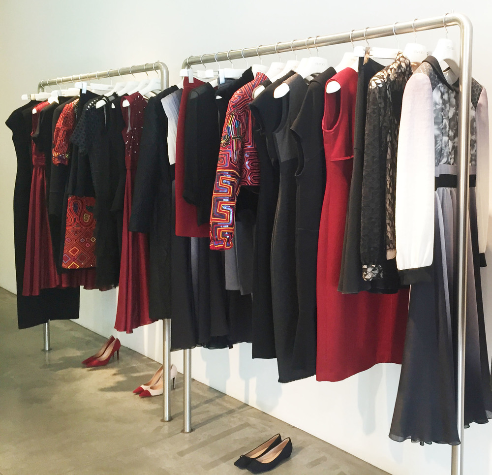 Strong blood reds on a backdrop of charcoal black will see you nicely through Fall