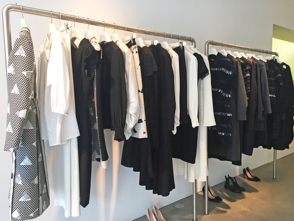 Strong monochrome pieces, with hints of navy in Amelia Toro's AW15 range