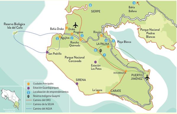 Mapa de los caminos