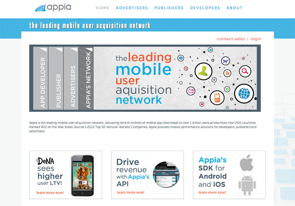 Appia- Older Homepage design