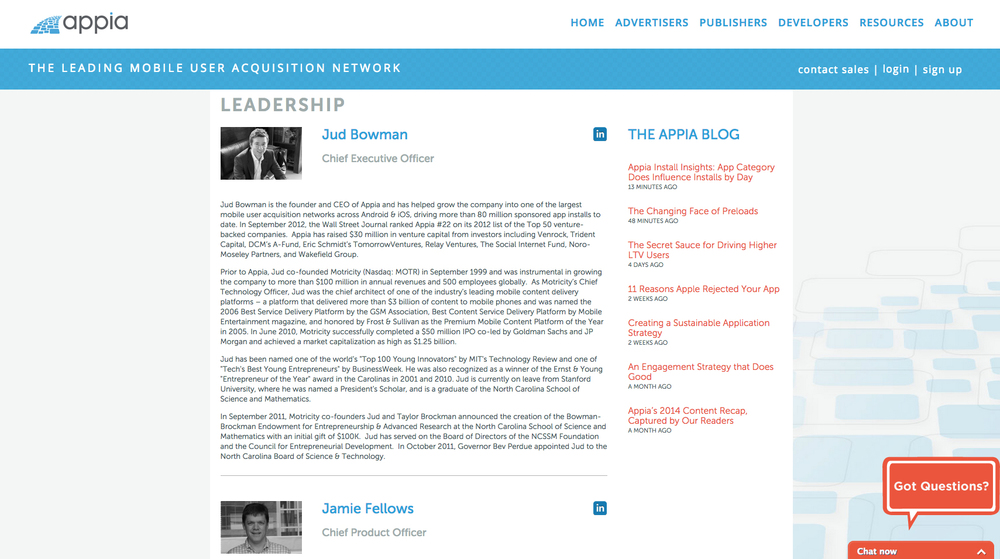 Appia- Newer Leadership design