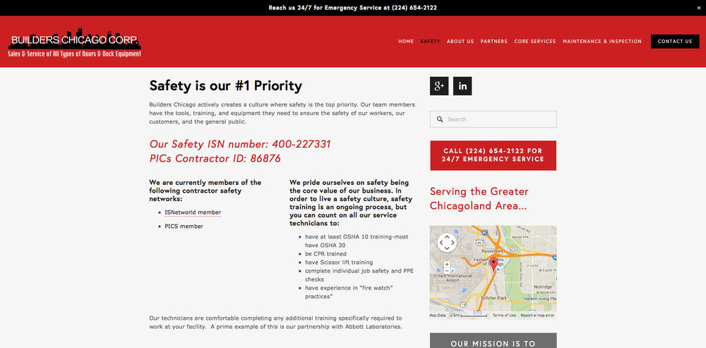 Builders Chicago Safety Page
