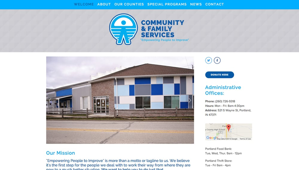 Community & Family Services Home Page