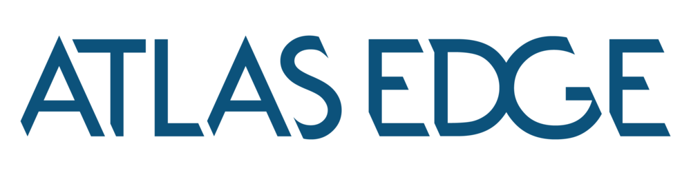Atlas Edge Horizontal Blue logo