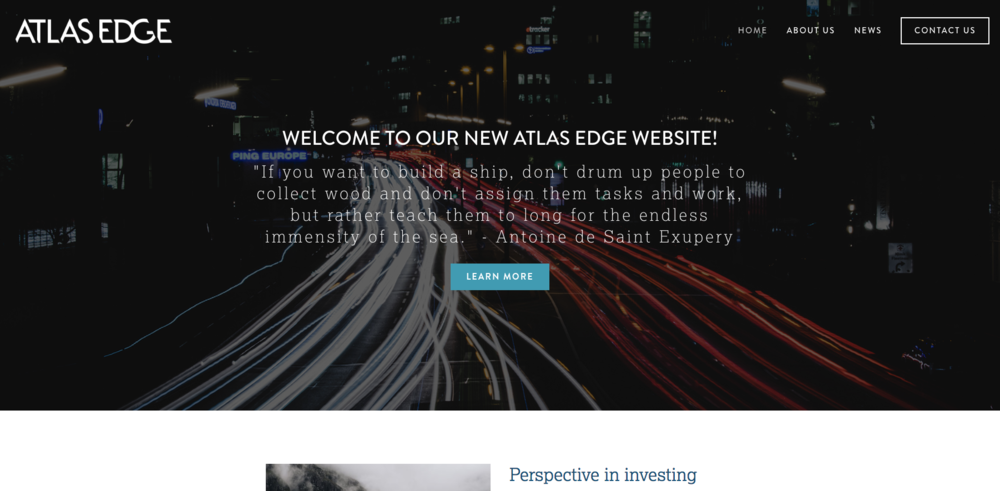 Atlas Edge Homepage