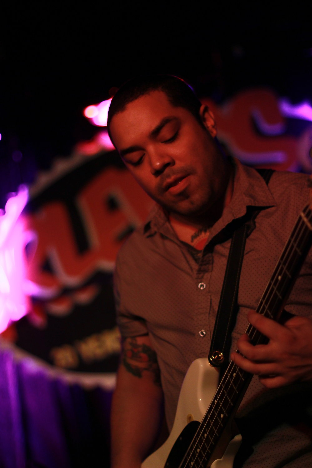 Jordache on the bass at Arlene's Grocery. Photo courtesy of Kevin Vallejos.