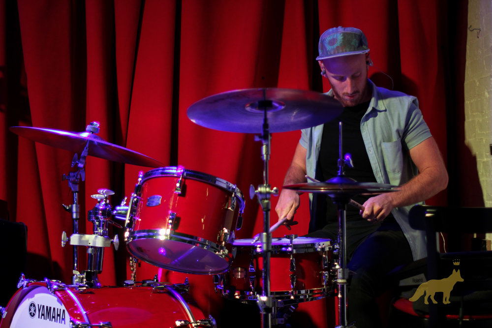 Tommy Hartman on drums. Photo courtesy of Kevin Vallejos
