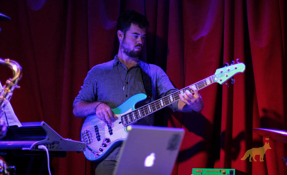 James Quinlan on Bass. Photo courtesy of Kevin Vallejos