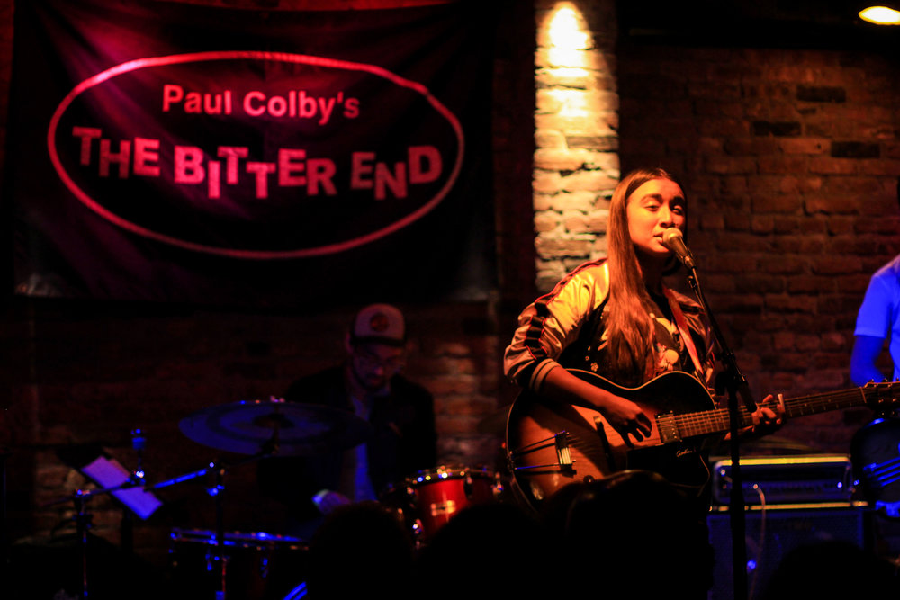 Raye Zaragoza on stage at The Bitter End. Photo courtesy of Kevin Vallejos.