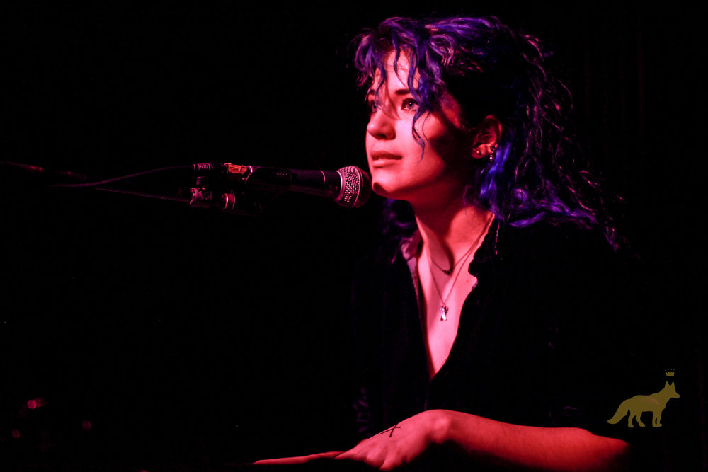 Talullah Ruff on keys at our #WomenInRock show. Photo courtesy of Kevin Vallejos.