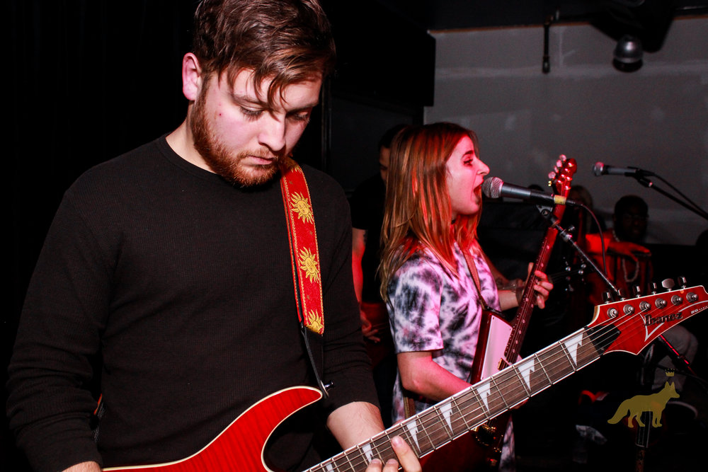 Nick Quilles on bass and Danielle Minch at the mic. Photo courtesy of Kevin Vallejos.