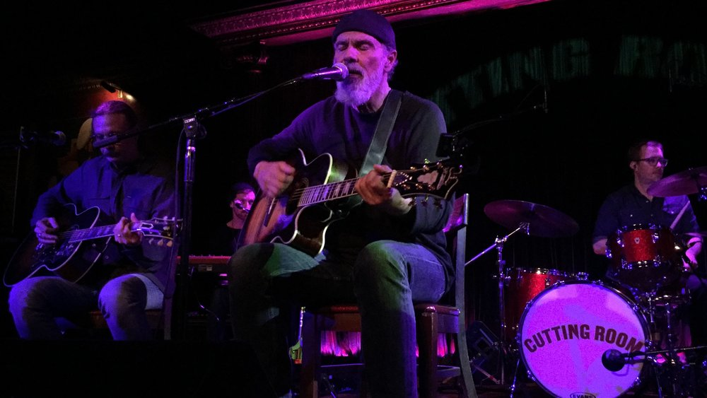 Bruce Sudano on the guitar at The Cutting Room.