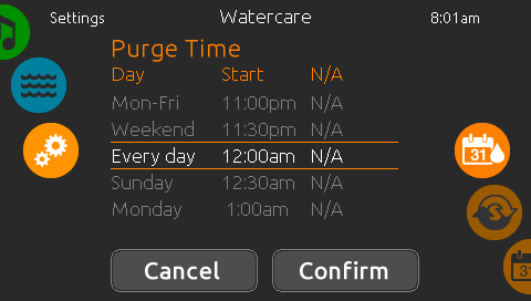Watercare schedules with the in.k1000