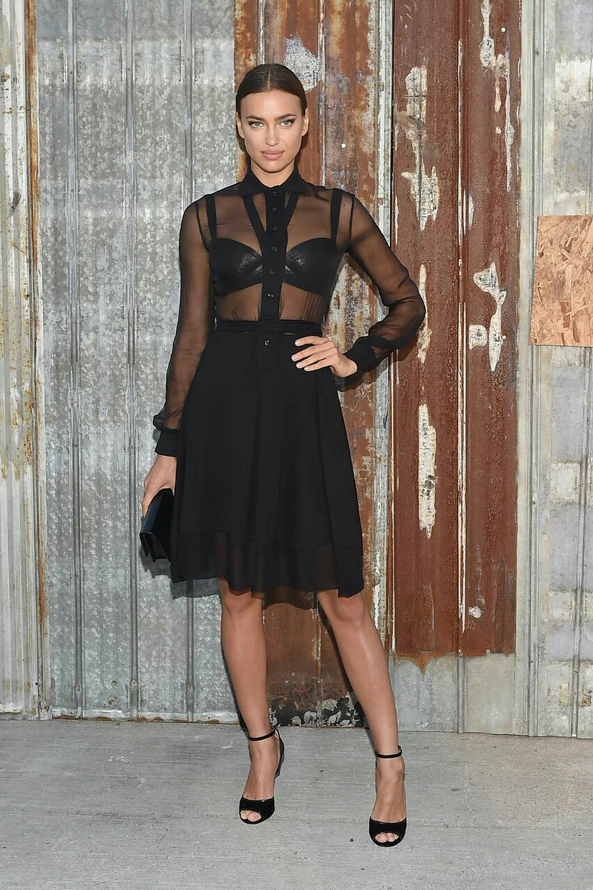 models-fashion111 :     Irina Shayk at New York fashion week - Givenchy fashion show Spring 2016, 10th September 2015.