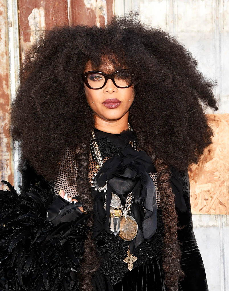 soph-okonedo: Erykah Badu attends the Givenchy fashion show during Spring 2016 New York Fashion Week at Pier 26 at Hudson River Park on September 11, 2015 in New York City.