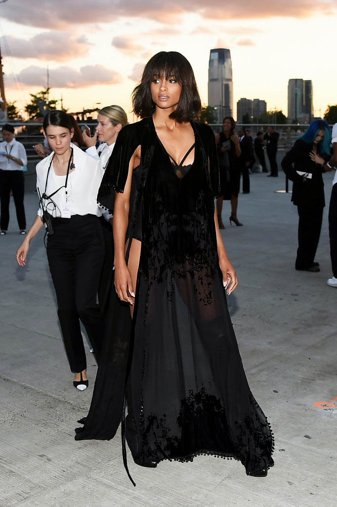 soph-okonedo: Ciara attends the Givenchy fashion show during Spring 2016 New York Fashion Week at Pier 26 at Hudson River Park on September 11, 2015 in New York City