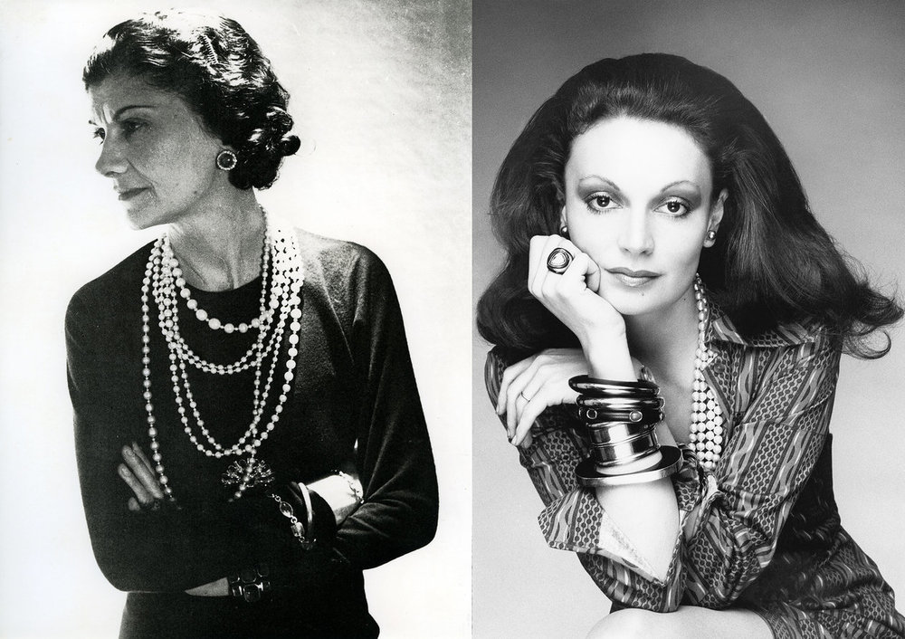 "vogue: ""Chanel was the essence of a woman. I always said when I was a young woman, I want a man's life in a woman's body. And both of us did that.""  8 surprising things you didn't know about Coco Chanel–that we learned from Diane von Furstenberg. Photo: (from left) Pictorial Press Ltd / Alamy; Bob Stone, Vogue, February 1, 1974"