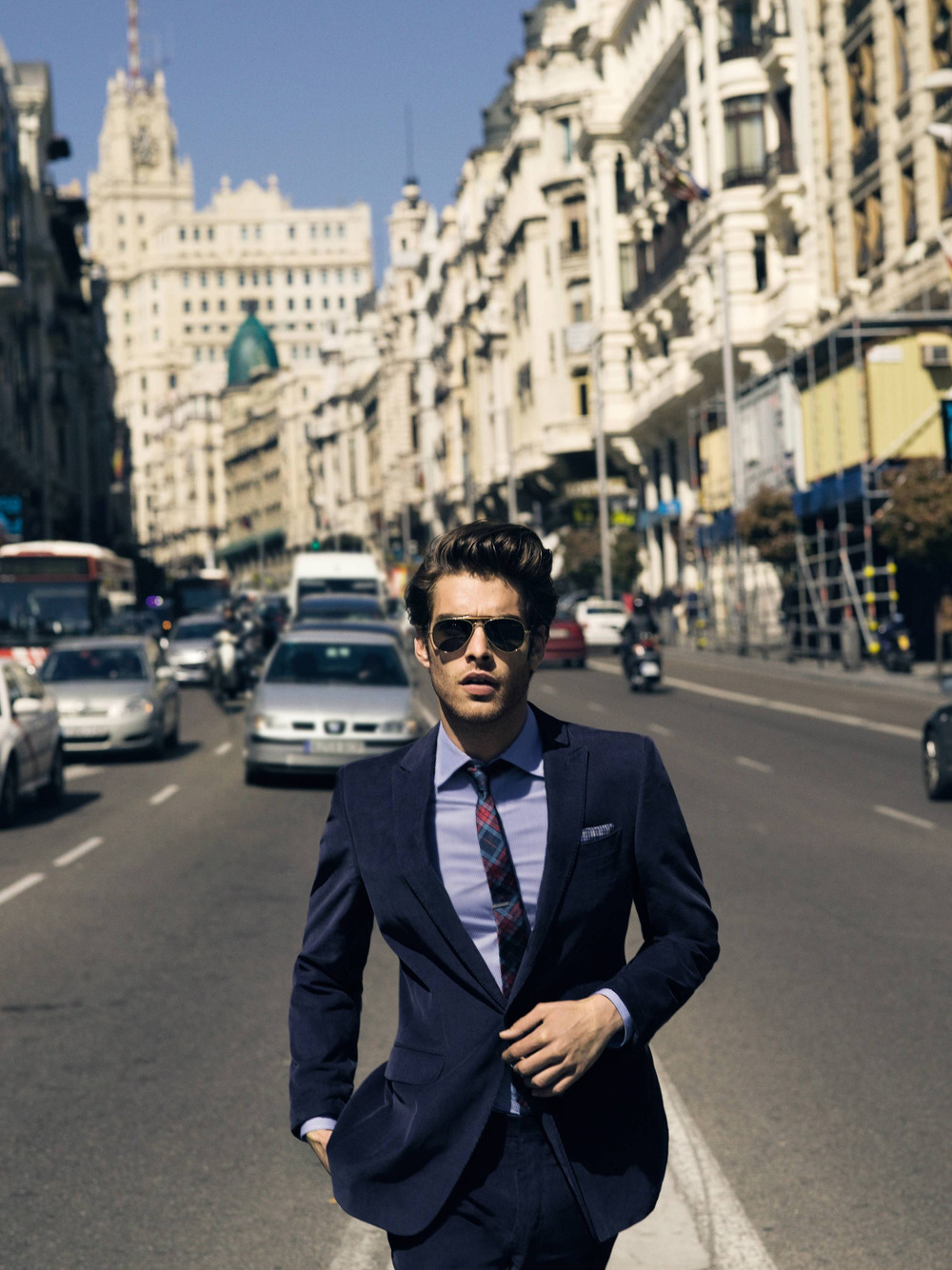gq :      What to Wear Today: Suit up, we're back on the grind.