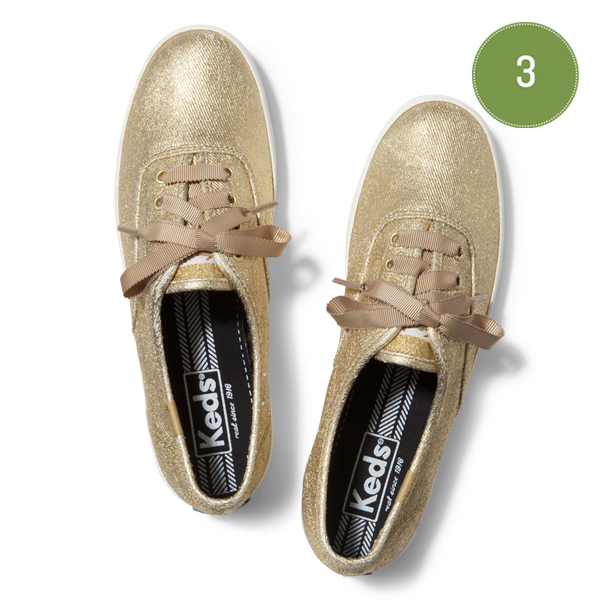 keds :      On the third day of Christmas Keds gave to me, the brightest metallic shoes you'll ever see.  Enter now for a chance to win these  today.